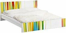 Apalis 93861 Möbelfolie für Ikea Malm Bett niedrig 160x200 cm - Rainbow Stripes, größe 77 x 177 cm