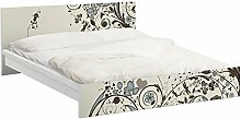 Apalis 93891 Möbelfolie für Ikea Malm Bett niedrig 160x200 cm - Vintage Meadow, größe 77 x 177 cm