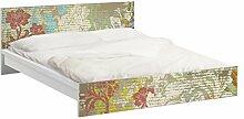 Apalis 93922 Möbelfolie für Ikea Malm Bett niedrig 180x200 cm - Blüten vergangener Zeit, größe 77 x 197 cm