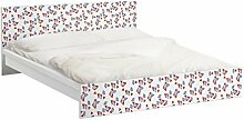 Apalis 94002 Möbelfolie für Ikea Malm Bett niedrig 180x200 cm - Mille Fleurs Designmuster, größe 77 x 197 cm