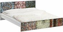Apalis 94028 Möbelfolie für Ikea Malm Bett niedrig 180x200 cm - Old Patterns, größe 77 x 197 cm