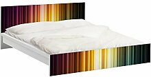 Apalis 94045 Möbelfolie für Ikea Malm Bett niedrig 180x200 cm - Rainbow Light, größe 77 x 197 cm