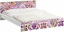 Apalis 94061 Möbelfolie für Ikea Malm Bett niedrig 180x200 cm - Sommerbarock, größe 77 x 197 cm