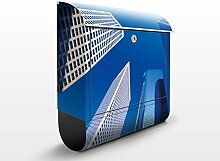 Apalis Design Briefkasten Manhattan Sky, 39 x 46 x 13 cm, grau, 46837