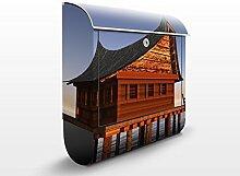 Apalis Design Briefkasten Standhaus im Wasser, 39 x 46 x 13 cm, mehrfarbig, 47268