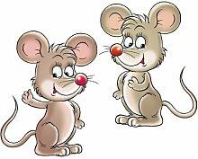 Apalis Fenstersticker No.45 Mäuse Tiere Katze
