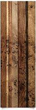Apalis Holz Dekorfolie - Holzwand Bird -