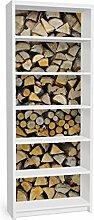 Apalis Möbelfolie für IKEA Billy Regal - Klebefolie Homey Firewood  Größe:2 mal 94cm x 76cm