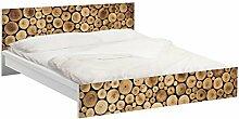 Apalis Möbelfolie für IKEA Malm Bett niedrig 160x200cm - Klebefolie Homey Firewood Größe:77cm x 177cm