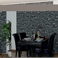 Apalis Steintapete Vliestapete Naturstein Tapete Alte Steinmauer Fototapete  Quadrat | Vlies Tapete Wandtapete Wandbild Foto 3D