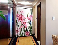 Apalis Türtapete mit rosa Blumen, 221 x 106 cm