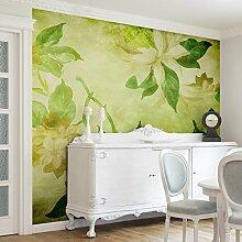 Apalis Vliestapete Blumentapete Green Blossoms Fototapete Quadrat | Vlies Tapete Wandtapete Wandbild Foto 3D Fototapete für Schlafzimmer Wohnzimmer Küche | Größe: 192x192 cm, grün, 97721