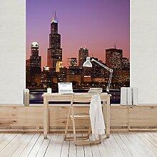 Apalis Vliestapete Chicago Skyline Fototapete
