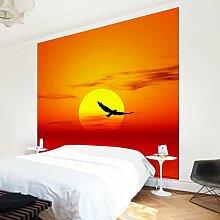 Apalis Vliestapete Fabulous Sunset Fototapete Quadrat | Vlies Tapete Wandtapete Wandbild Foto 3D Fototapete für Schlafzimmer Wohnzimmer Küche | Größe: 192x192 cm, gelb, 97627