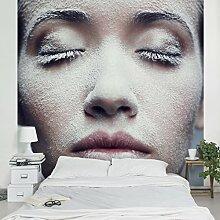 Apalis Vliestapete Frosty Close Up Fototapete Quadrat | Vlies Tapete Wandtapete Wandbild Foto 3D Fototapete für Schlafzimmer Wohnzimmer Küche | Größe: 240x240 cm, mehrfarbig, 107847