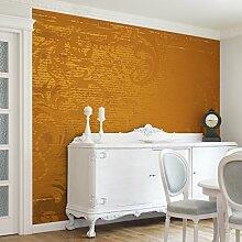 Apalis Vliestapete Goldener Barock Fototapete Quadrat | Vlies Tapete Wandtapete Wandbild Foto 3D Fototapete für Schlafzimmer Wohnzimmer Küche | Größe: 240x240 cm, gelb, 97706