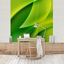 Apalis Vliestapete Green Composition Fototapete Quadrat | Vlies Tapete Wandtapete Wandbild Foto 3D Fototapete für Schlafzimmer Wohnzimmer Küche | Größe: 240x240 cm, grün, 97722