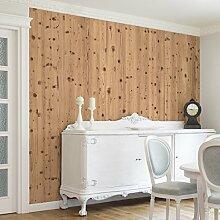 Apalis Vliestapete Holz Antique Whitewood Fototapete Quadrat | Vlies Tapete Wandtapete Wandbild Foto 3D Fototapete für Schlafzimmer Wohnzimmer Küche | Größe: 288x288 cm, natur, 104830