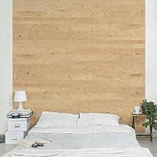 Apalis Vliestapete Holz Apfelbirke Fototapete Quadrat | Vlies Tapete Wandtapete Wandbild Foto 3D Fototapete für Schlafzimmer Wohnzimmer Küche | Größe: 192x192 cm, beige, 104831