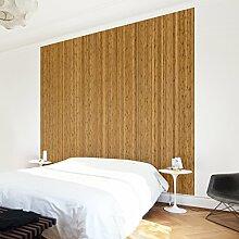 Apalis Vliestapete Holz Bambus Fototapete Quadrat