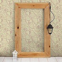 Apalis Vliestapete Mollusken Design Mustertapete Quadrat | Vlies Tapete Wandtapete Wandbild Foto 3D Fototapete für Schlafzimmer Wohnzimmer Küche | Größe: 288x288 cm, beige, 98307