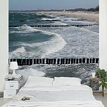 Apalis Vliestapete Nordseeküste Fototapete Quadrat | Vlies Tapete Wandtapete Wandbild Foto 3D Fototapete für Schlafzimmer Wohnzimmer Küche | Größe: 192x192 cm, mehrfarbig, 97878