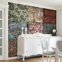 Apalis Vliestapete Old Patterns Fototapete Quadrat | Vlies Tapete Wandtapete Wandbild Foto 3D Fototapete für Schlafzimmer Wohnzimmer Küche | Größe: 336x336 cm, mehrfarbig, 95424