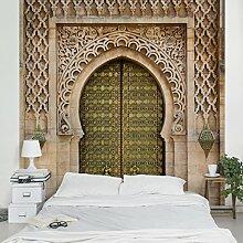 Apalis Vliestapete Oriental Gate Fototapete Quadrat | Vlies Tapete Wandtapete Wandbild Foto 3D Fototapete für Schlafzimmer Wohnzimmer Küche | Größe: 336x336 cm, beige, 95427