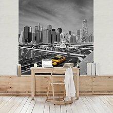 Apalis Vliestapete Taxitrip to the other Side Fototapete Quadrat | Vlies Tapete Wandtapete Wandbild Foto 3D Fototapete für Schlafzimmer Wohnzimmer Küche | Größe: 192x192 cm, mehrfarbig, 98071