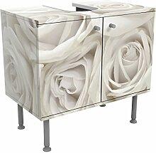 Apalis Waschbeckenunterschrank Weiße Rosen