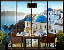 Apalis XXL Fensterbild Santorini Griechenland