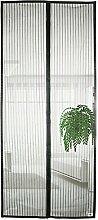 APALUS® Magnet Fliegengitter Tür Insektenschutz 100x220 cm / 90x210 cm, Kinderleichte Klebemontage Des Lichtdurchlässigen Fliegen-Vorhang An Der Balkontür, Wohnzimmertür, Schiebetür, Ohne Bohren