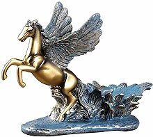 APAN Schöne Pegasus Weinregal Statue Ornamente