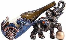 APAN Schöne Weinregal Elefant Statue Ornamente