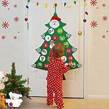 Aparty4u Filz Weihnachtsbaum Adventskalender