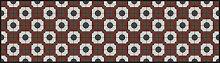 apè Design Teppich grau/rot/weiß 52x 120cm