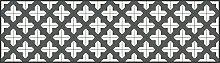 apè Design Teppich grau/weiß 52x 140cm