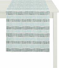 APELT 3949 48x140 14 Läufer, Polyester-Baumwolle, türkis, 48 x 140 cm