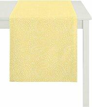 APELT 7907 48X140 50 Tischläufer, Polyester, gelb