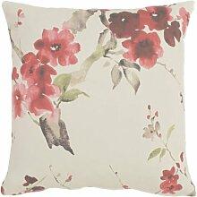 APELT Hanami_45x45_20 Kissen gefüllt, natur mit Kirschblüten