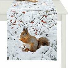 Apelt Läufer, Baumwolle, Braun / Rot / Orange, 46 x 135 x 0.2 cm