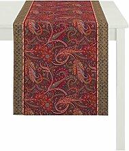 APELT Läufer, Baumwolle, Rot, 46 x 135 x 0.2 cm