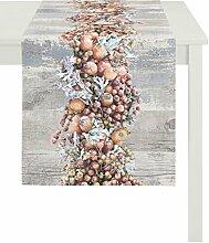 Apelt Läufer, Baumwolle, Rot / Orange, 40 x 140 x 0.2 cm