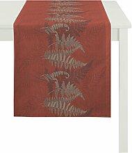 APELT Läufer, Polyester, Rot, 48 x 140 x 0.2 cm