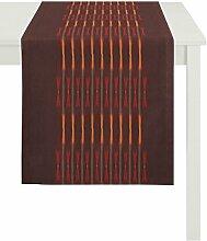 Apelt Läufer, Polyester, Rot / Orange, 48 x 140 x