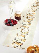 Apelt Tischband mit Druckmotiv Hasen natur Größe 20x175 cm
