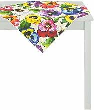 APELT Tischdecke Baumwolle Gelb/bunt 88 x 88 x 0.5
