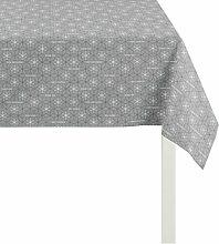 APELT Tischdecke Polyester anthrazit/Silber 84 x