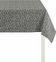 Apelt Tischdecke, Polyester, Anthrazit / Silber, 84 x 84 x 0.2 cm