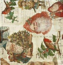 APELT Tischläufer nostalgische Weihnachten mit Nikolaus, Weihnachtsmann, Santa Claus, 48 x 135 cm, Art. 2093 Fb. 50